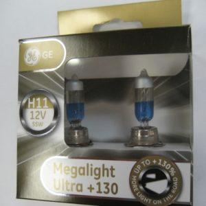 H11 130 GE Megalight Ultra 130 Артикул 53110XNU уп 2шт Автолампы (5)